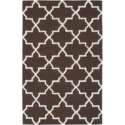 Blaisdell Brown Geometric Keely Area Rug Rug Size: Rectangle 76 x 96