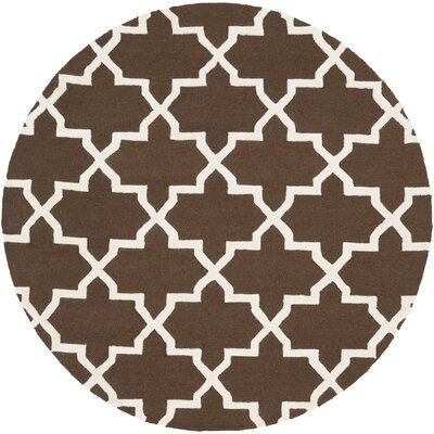 Blaisdell Brown Geometric Keely Area Rug Rug Size: Round 36