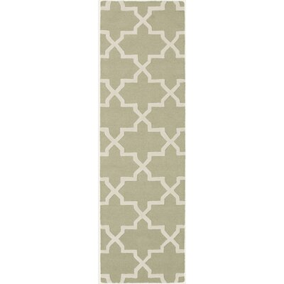 Blaisdell Sage Geometric Keely Area Rug Rug Size: Runner 23 x 14