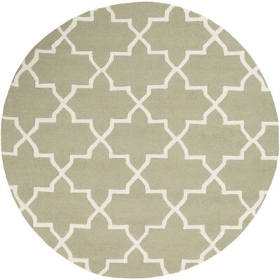 Blaisdell Sage Geometric Keely Area Rug Rug Size: Round 6