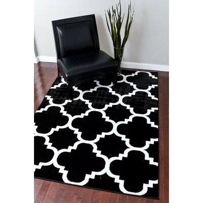 Blocher Black Indoor/Outdoor Area Rug Rug Size: 2 x 3