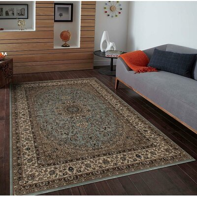 Blocher Blue Indoor/Outdoor Area Rug Rug Size: Rectangle 4 x 5