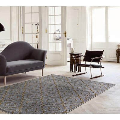 Blocher Gray Indoor/Outdoor Area Rug Rug Size: 5 x 7