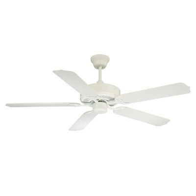 Blomquist 52 Ceiling Fan Motor Finish: White, Blade Finish: White