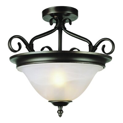 Blue Heron Semi Flush Mount Finish: Rubbed Oil Bronze