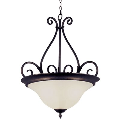 Blue Heron 3-Light Inverted Pendant Finish: Rubbed Oil Bronze