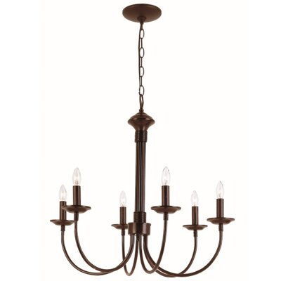 Blue Heron 6-Light Candle-Style Chandelier Finish: Rubbed Oil Bronze