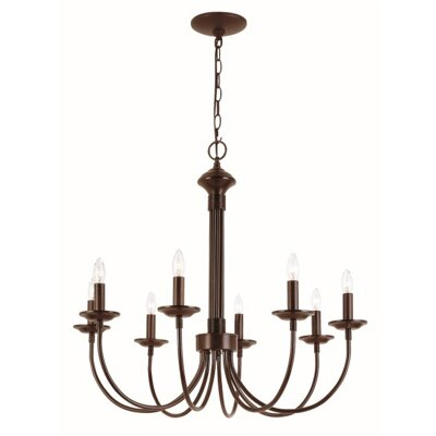 Blue Heron 8-Light Candle-Style Chandelier Finish: Rubbed Oil Bronze