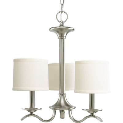 Greenwell 3-Light Shaded Chandelier Finish: Brushed Nickel
