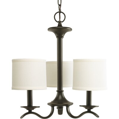 Blue Skye 3-Light Shaded Chandelier Finish: Antique Bronze