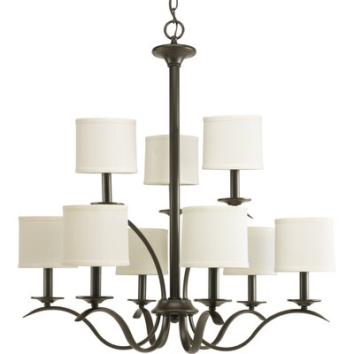 Greenwell 9-Light Shaded Chandelier Finish: Antique Bronze