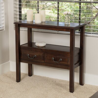 Bockman Acacia Console Table Finish: Brown Mahogany