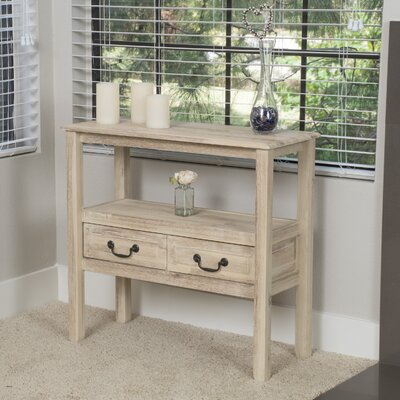 Bockman Acacia Console Table Finish: Brushed Morning Mist