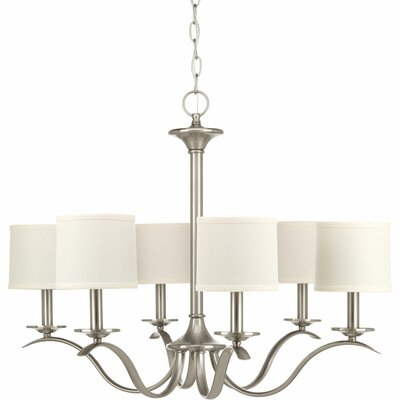 Blue Skye 6-Light Shaded Chandelier Finish: Brushed Nickel