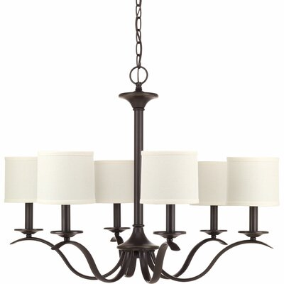 Greenwell 6-Light Shaded Chandelier Finish: Antique Bronze