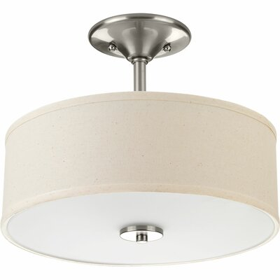 Greenwell 2-Light Semi Flush Mount Finish: Brushed Nickel