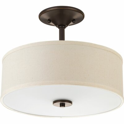 Greenwell 2-Light Semi Flush Mount Finish: Antique Bronze