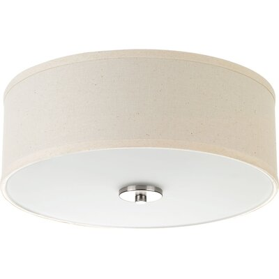 Blue Skye 2-Light Flush Mount Finish: Brushed Nickel