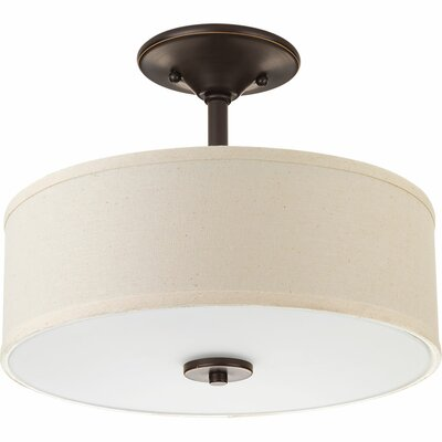Greenwell 1-Light LED Semi Flush Mount Finish: Antique Bronze