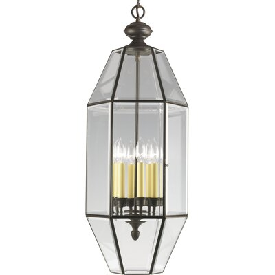Bluebird 6-Light Foyer Pendant Finish: Antique Bronze with Clear Beveled Glass