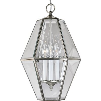 Bluebird 3-Light Bound Foyer Pendant Finish: Brushed Nickel