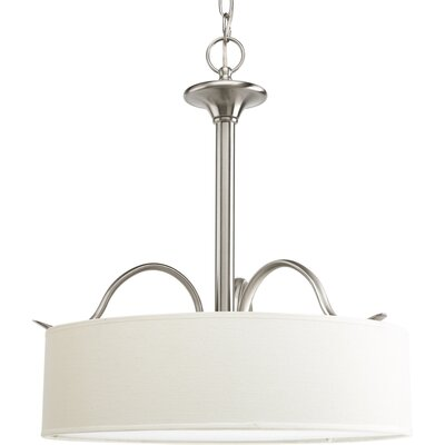 Greenwell 3-Light Drum Pendant Finish: Brushed Nickel