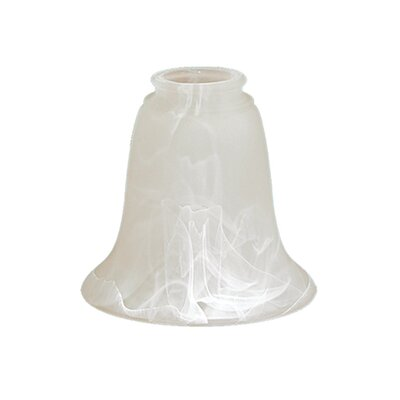 5 Glass Bell Pendant Shade Finish: Faux Alabaster