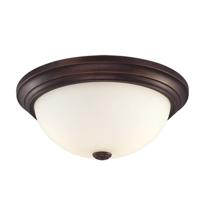 Simonsen 2-Light Flush Mount Size: 5.5 H x 11 W, Finish: Rubbed Silver