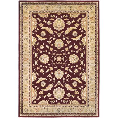 Anheuser Ruby/Cream Area Rug Rug Size: Runner 22 x 710