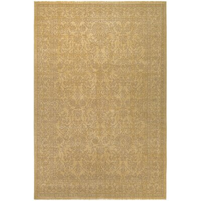 Anheuser Tan/Gold Area Rug Rug Size: 92 x 129