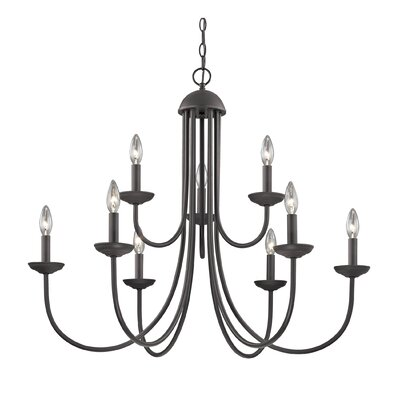 Bordelon 9-Light Candle-Style Chandelier Finish: Oil Rubbed Bronze