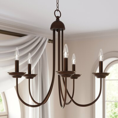 Bordelon 5-Light Candle-Style Chandelier Finish: Oil Rubbed Bronze