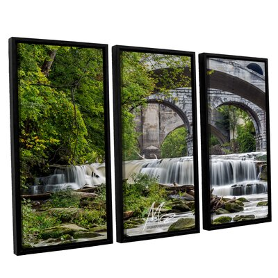 'Berea Falls 1' Framed Photographic Print Multi-Piece Image on Canvas Size: 24