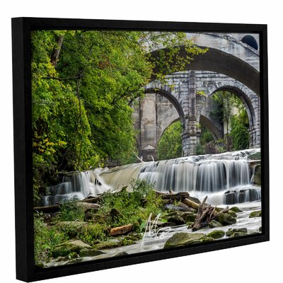 'Berea Falls 1' Framed Photographic Print on Canvas Size: 14