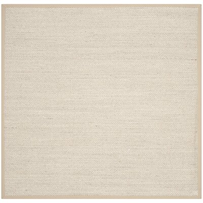 Monadnock Marble / Linen Area Rug Rug Size: Square 8