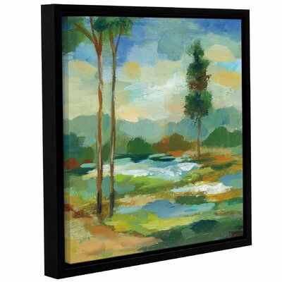 'Early Spring Landscape I' Framed Painting Print on Canvas Size: 10