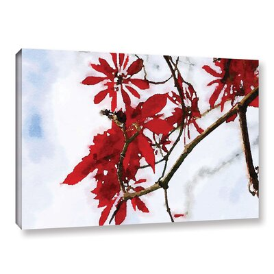 'Red Bush 8' Painting Print on Canvas Size: 12