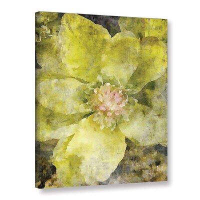 'Joyful Green Flower 2' Painting Print on Canvas Size: 12