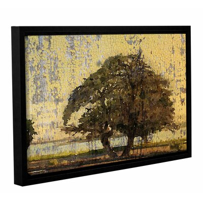'Tree and Yellow Sky' Framed Painting Print on Canvas Size: 12