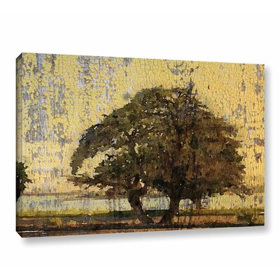 'Tree and Yellow Sky' Painting Print on Canvas Size: 12
