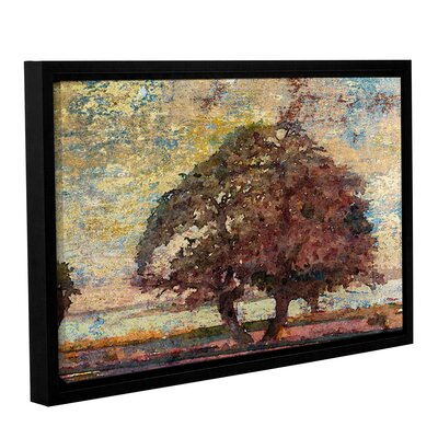 'Tree and Yellow Sky 2' Framed Painting Print on Canvas Size: 12