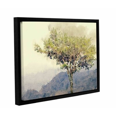 'Blue Morning Fog 1' Framed Painting Print on Canvas Size: 12