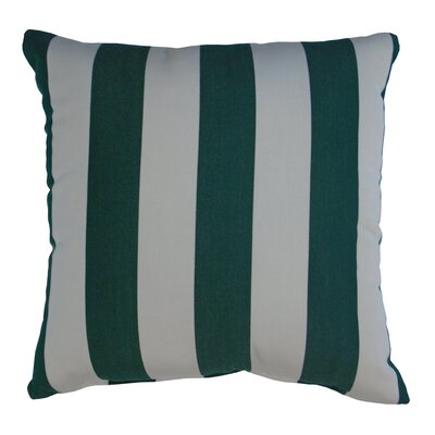Amplas Stripe Throw Pillow Color: Forest