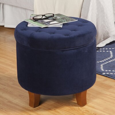 Botello Storage Ottoman Upholstery: Ink Navy