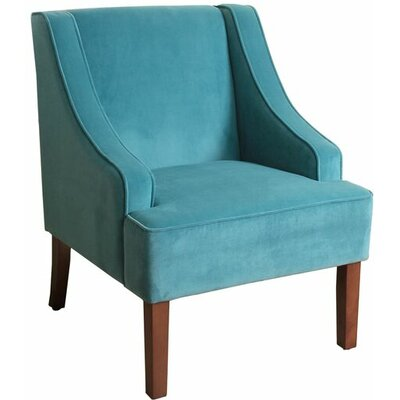 Boulevard Swoop Arm Chair Color: Teal