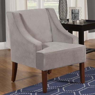Boulevard Swoop Armchair Color: Dove Gray
