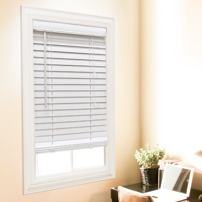 Faux Wood Room Darkening White Venetian Blind