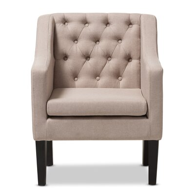 Boundary Bay Armchair Color: Beige