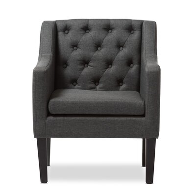 Boundary Bay Armchair Color: Gray