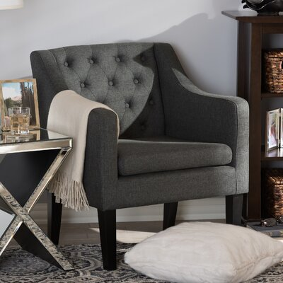 Boundary Bay Armchair Upholstery: Gray